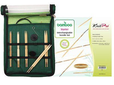 set punte bambu per lavoro a maglia
